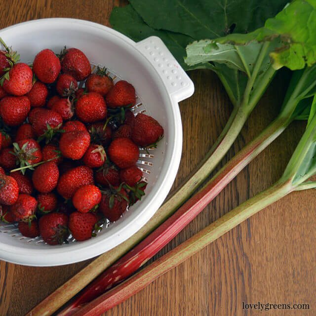 Recipe for soft-set strawberry and rhubarb jam. Rhubarb adds a contrasting and delicious flavor to your classic strawberry jam.