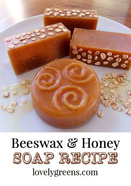 Handmade Honey and Beeswax Soap Recipe