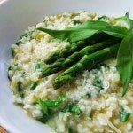 Wild Garlic and Asparagus Risotto