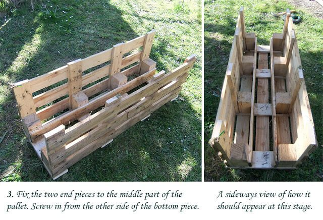 How to make a better strawberry pallet planter lovely greens - Make outdoor pallet swing step step guide ...