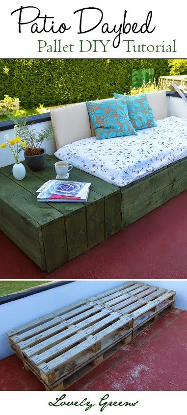 Garden Furniture East Bay pallet project: patio day bed - garden living and making with