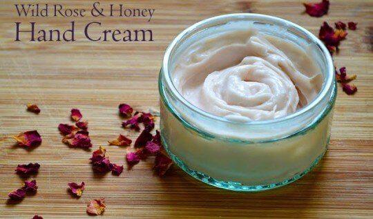 Recipe for making handmade Wild Rose & Honey Body Cream