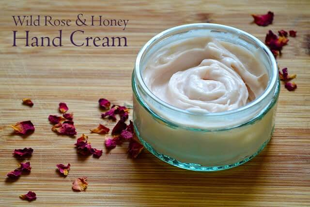 Recipe for making handmade Wild Rose & Honey Body Cream