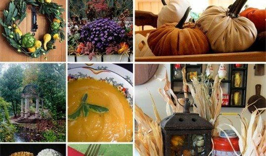 17 Autumn decoration ideas and recipes from the Garden Charmers: wreaths, ornaments, window boxes, cushions, and more
