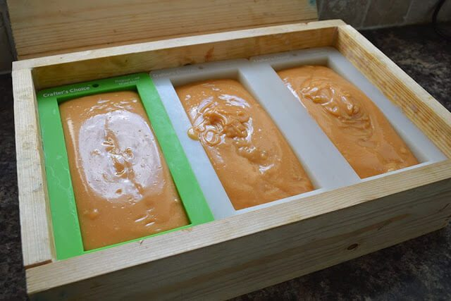 Natural Soap Making for Beginners: How to make Cold-Process Soap. A simple guide on how to make cold-process soap. Includes information on each soap making step, temperatures, bringing soap to 'Trace', molding, and curing soap. This is part four in the Natural Soap Making for Beginners series #lovelygreens #soapmaking #soaprecipe