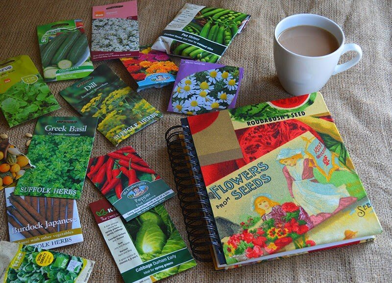Organize Seed Packets in a Photo Album
