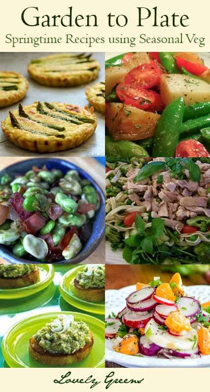 Springtime Garden to Plate Recipes - Make the most of seasonal veg with these delicious recipe ideas from the Garden Charmers #healthyrecipes