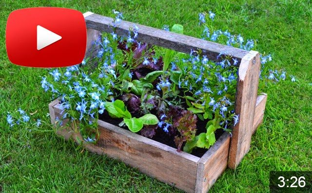 Tutorials on how to make and convert wooden trugs into planters #gardening