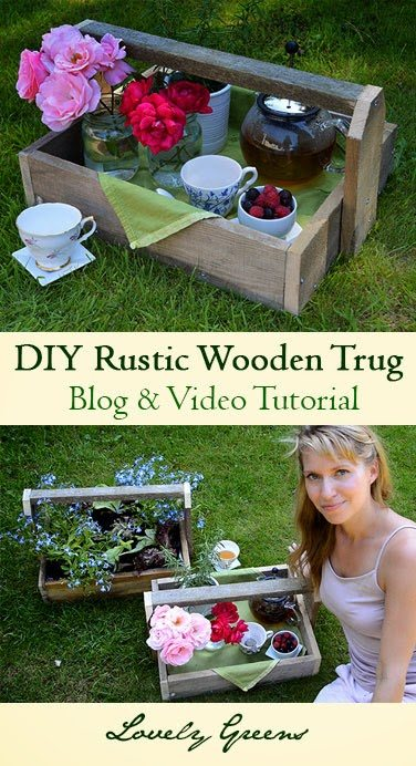 Tutorial on how to build Rustic Wooden Trugs #diy #pallet