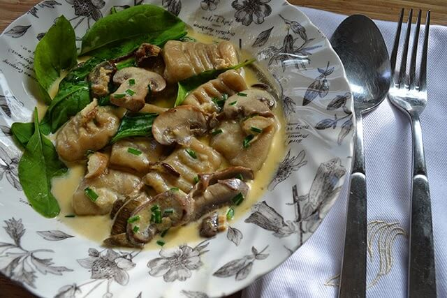 Homemade Gnocchi with Porcini and Parmesan - gourmet comfort food made from the comfort of your home #mushroom #vegetarian