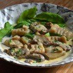 Recipe for Porcini Gnocchi with Creamy Mushroom and Garlic Sauce