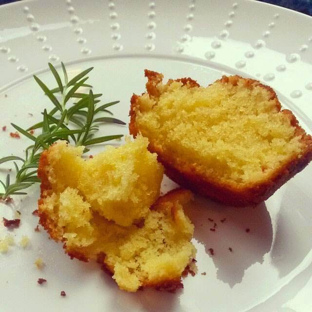 Lemon and Rosemary Drizzle Cupcakes