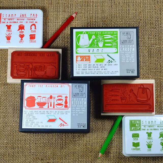 Create stylish labels for gifts from the kitchen and garden with these two stamps from Yellow Owl Workshop