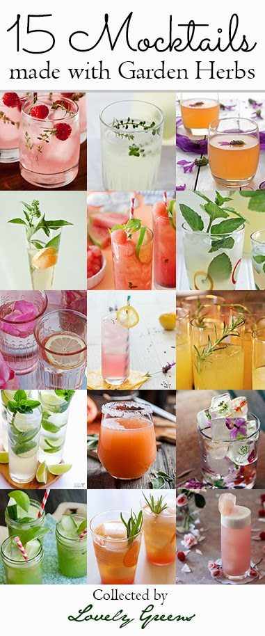 15 Mocktail Recipes made with Garden Herbs