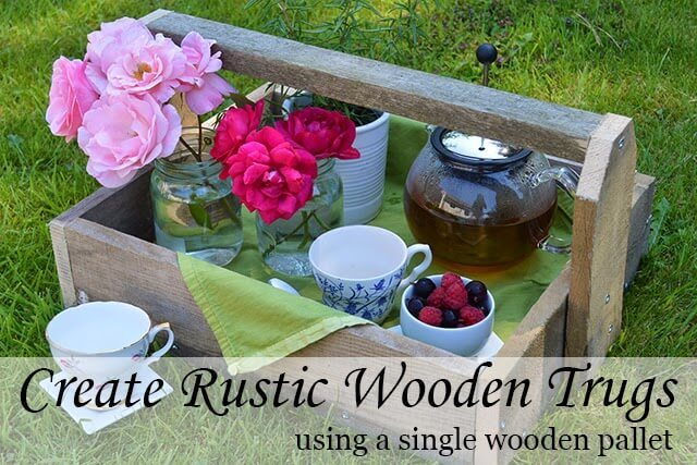 How to make rustic wooden trugs out of pallet wood. Use in the home or for country-chic outdoor planters #pallet