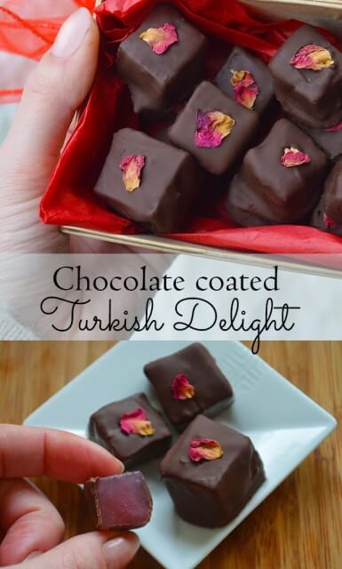 How to make Chocolate covered Turkish Delight