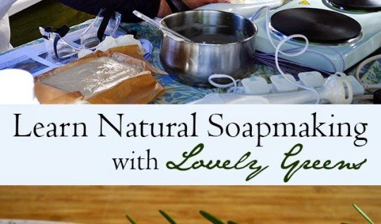 LEARN TO MAKE YOUR OWN COLD PROCESS SOAP with Lovely Greens - both classes and free online information available #soapmaking