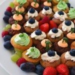 Mini Cupcake Party Platter + Recipe for Gluten-free Mojito Cupcakes