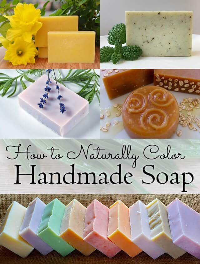 A list of natural ingredients including flowers, herbs, plants, and minerals, that you can use to tint your handmade soap to any colour of the rainbow!