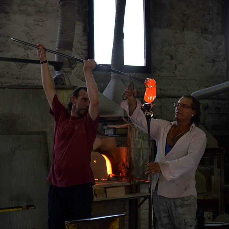Glass blowing. Photo diary of a solo trip to Venice, Italy, one of the most romantic cities in the world.