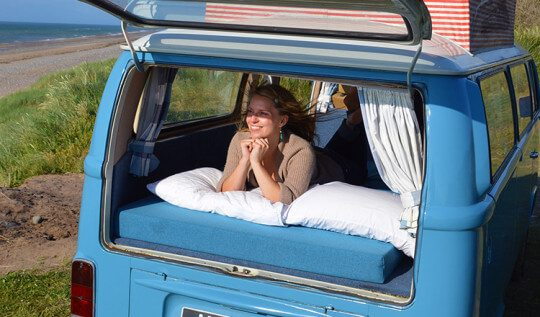 Taking Daisy Blue, the Volkswagen Camper on her first weekend trip #lovelygreens