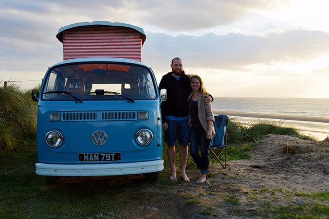 Taking Daisy Blue, the Volkswagen Camper on her first weekend trip
