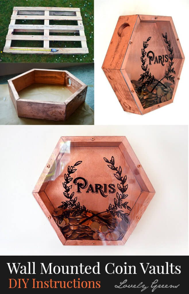 How to make Metallic Coin Vaults with Pallet Wood
