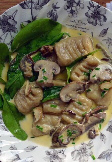 Recipe for handmade Porcini Gnocchi in a mushroom cream sauce