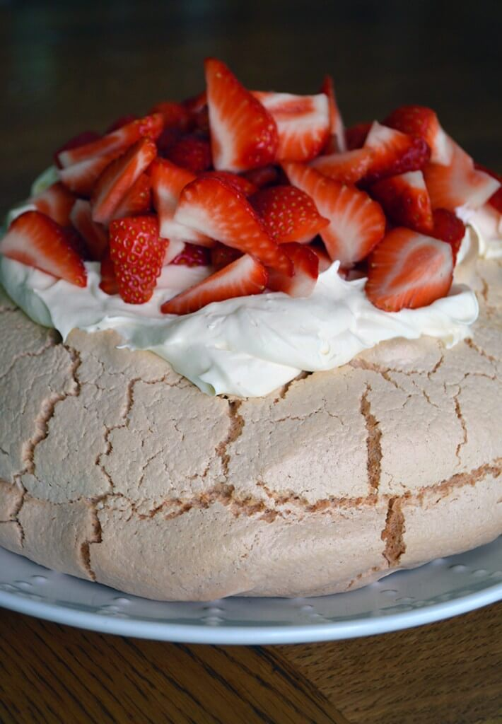 Pavlova + Fresh Berries & Cream