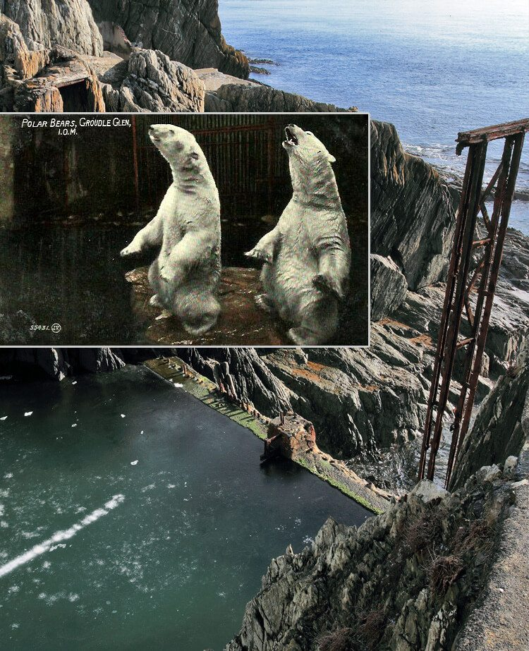 13 Spooky & Haunted places to visit on the Isle of Man: The mystery of the Groudle Glen Polar Bears