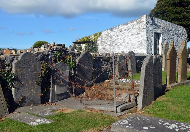 13 Spooky & Haunted places to visit on the Isle of Man: The Vampire Grave in Malew Churchyard
