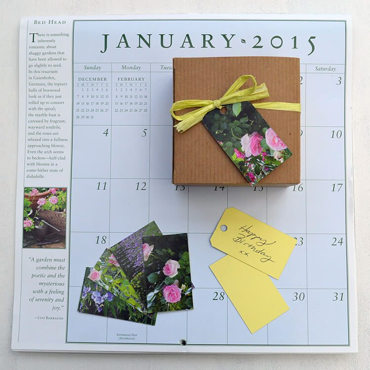 Recycle last year's calendar into Handmade Gift Tags