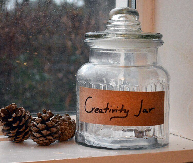 New Years Resolution: Creativity Jar. Each day do or make something creative or useful and then write the project down on a piece of paper. Creativity is therapeutic and this will help inspire me to tap into it every day!