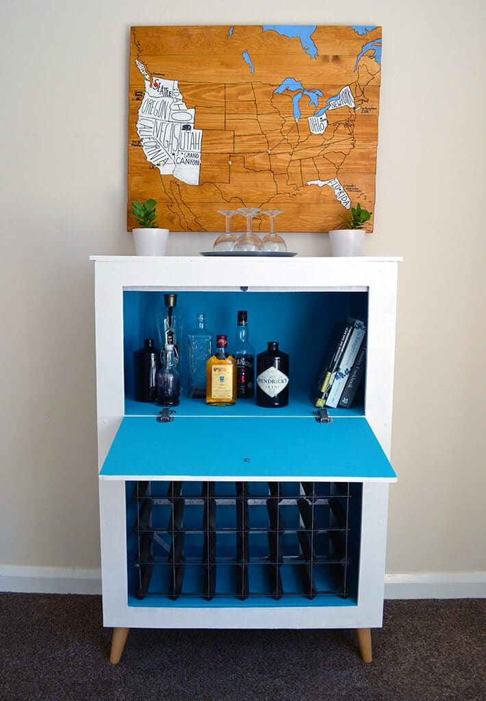 How to build a Mid-Century Modern Wine & Liquor Cabinet