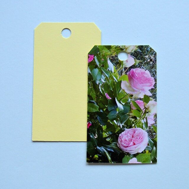 Easy craft project: Recycle the images in last year's calendar into handmade gift tags