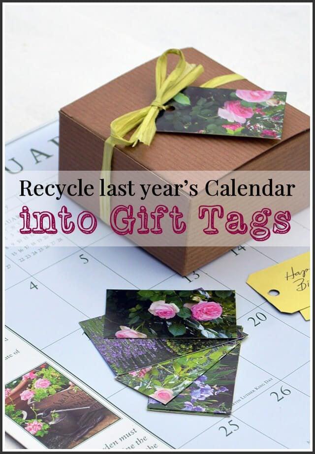 Last Year Calendar : Recycle last year s calendar into handmade gift tags