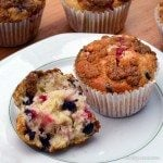 Redcurrant & Elderberry Muffins with Streusel Topping