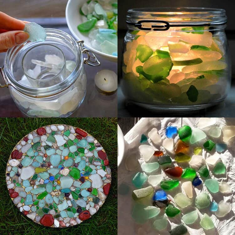 Sea Glass Foraging on the Isle of Man: DIY projects you can use sea glass in