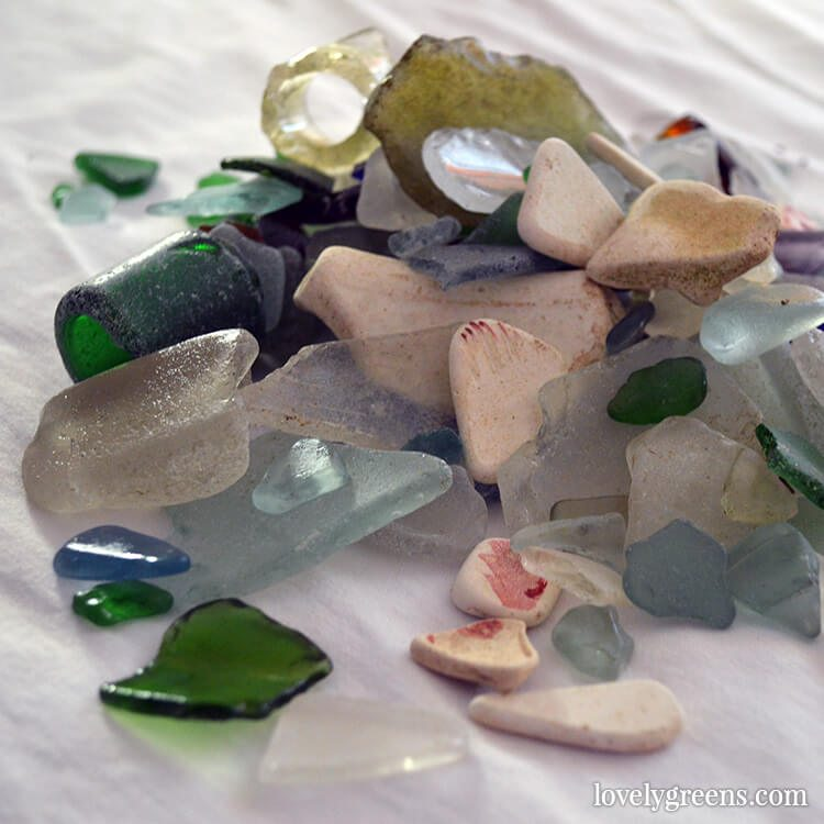Sea Glass Foraging on the Isle of Man