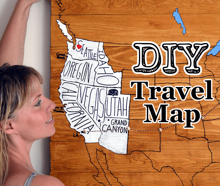 DIY Project Personal Travel Map Lovely Greens – Personal Travel Map