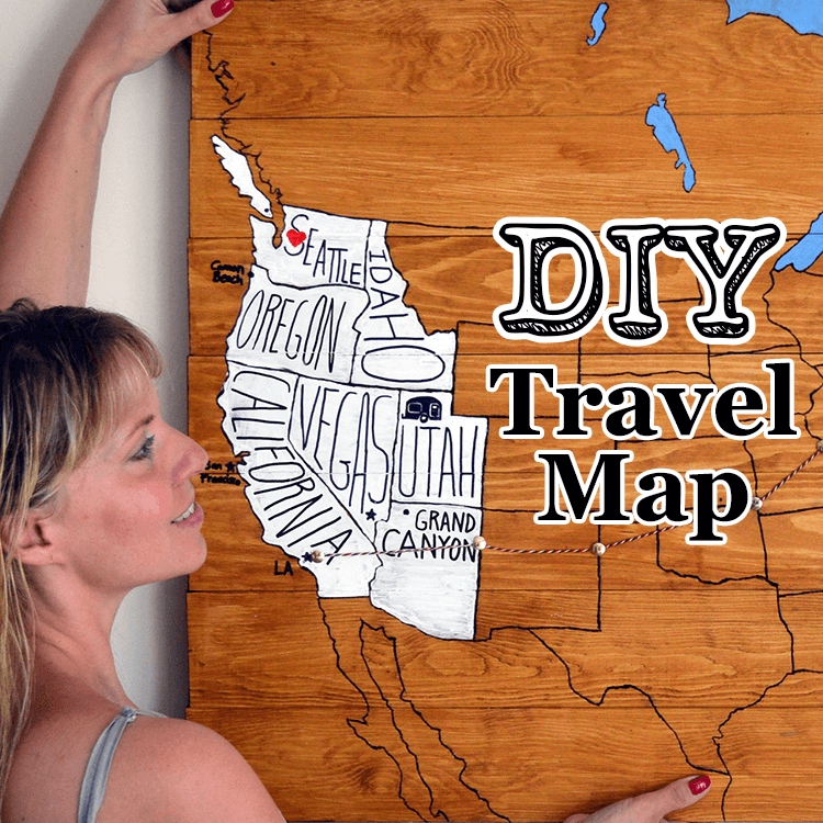DIY Project: Personal Travel Map