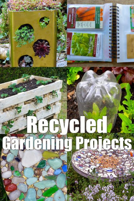 9 recycled projects and ideas for your garden lovely greens for Garden ideas using recycled materials