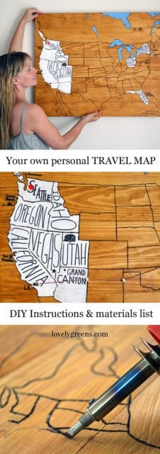 remember your journeys and adventures with a do it yourself personal travel map