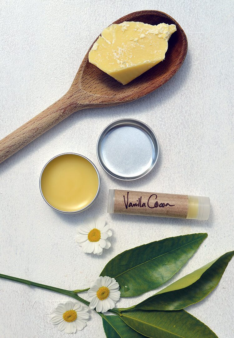 Vanilla Cocoa Lip Balm recipe + diy instructions