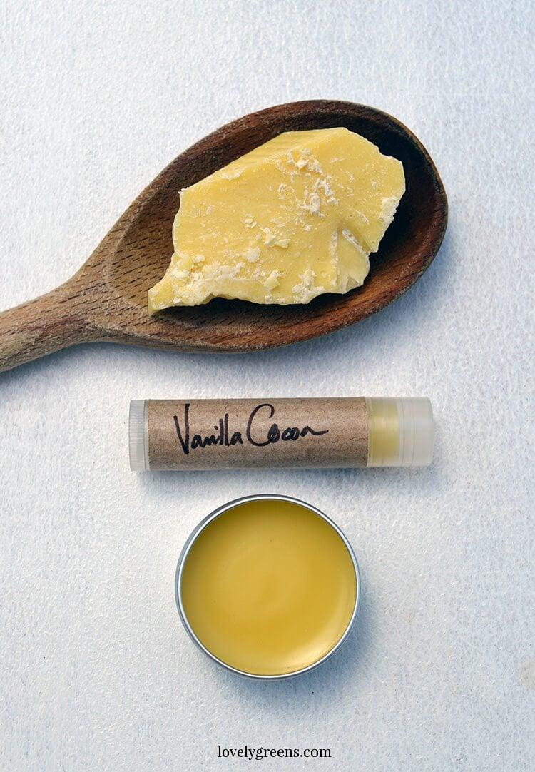 Vanilla Cocoa Lip Balm recipe + diy instructions