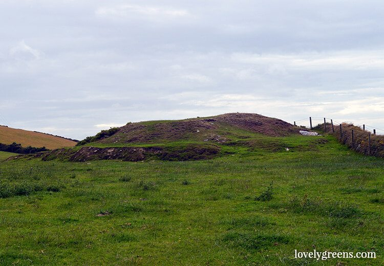 Neolithic cairn and 'Crystal Cave' at the Devil's Elbow, Isle of Man