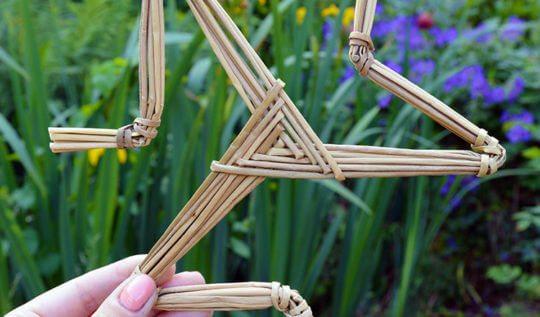 Handmade woven triskelion by John Dog Callister