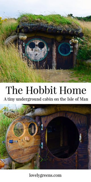 The Hobbit House is an underground cabin on the Isle of Man. It cost £600 to make and most of its materials are salvaged or recycled.