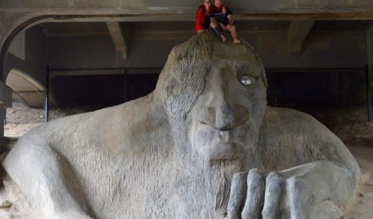 Lovely Greens visits the Fremont Troll