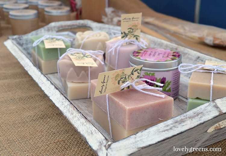Lovely Greens handmade soap - made on the Isle of Man